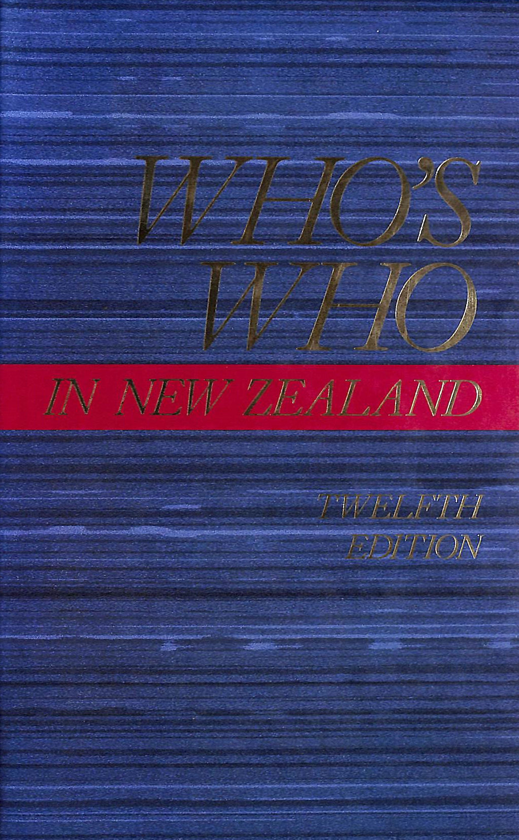 Image for Who's Who in New Zealand - Twelfth Edition