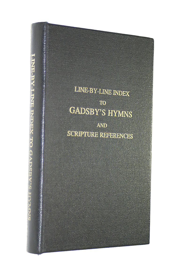 Image for Gadsby's Hymns Line-By-Line INdex