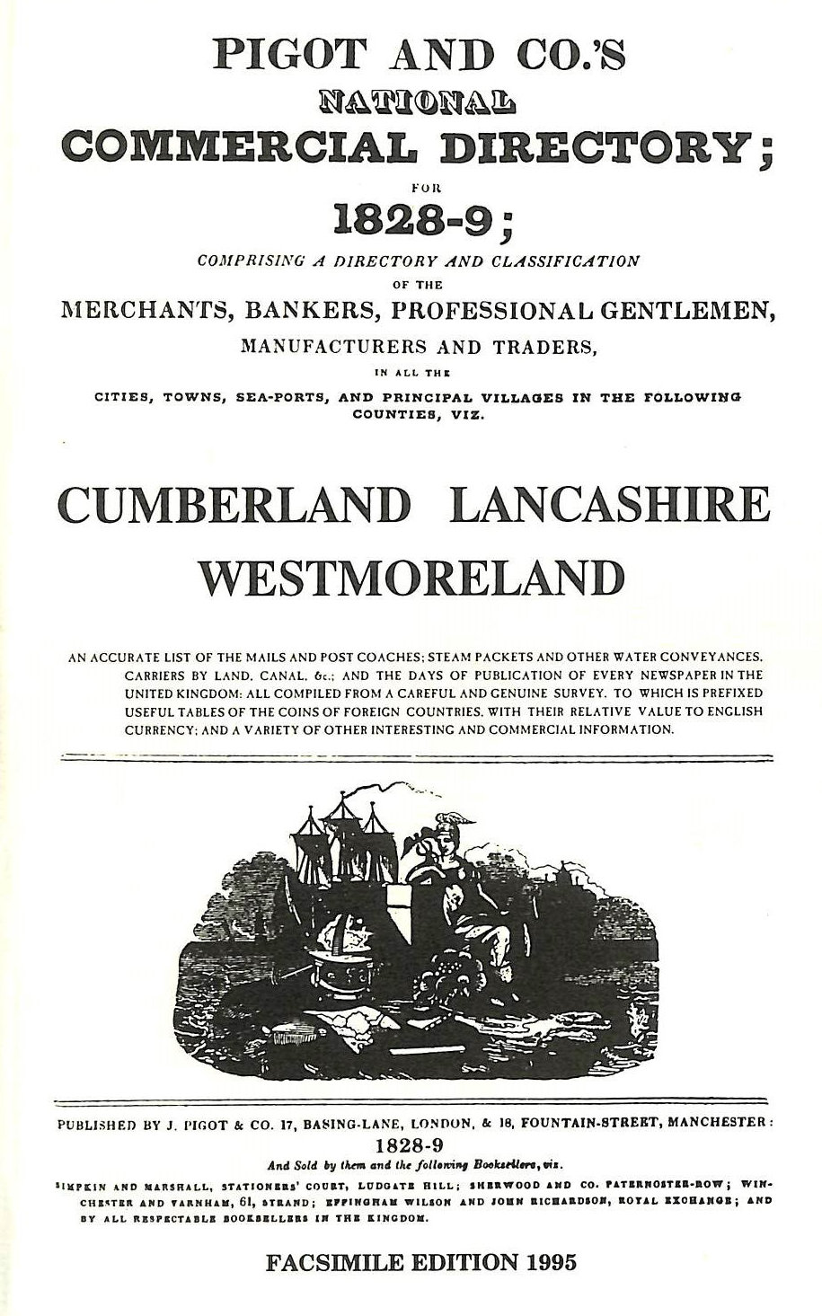 Image for National commercial directory: Cumberland, Lancashire, Westmoreland