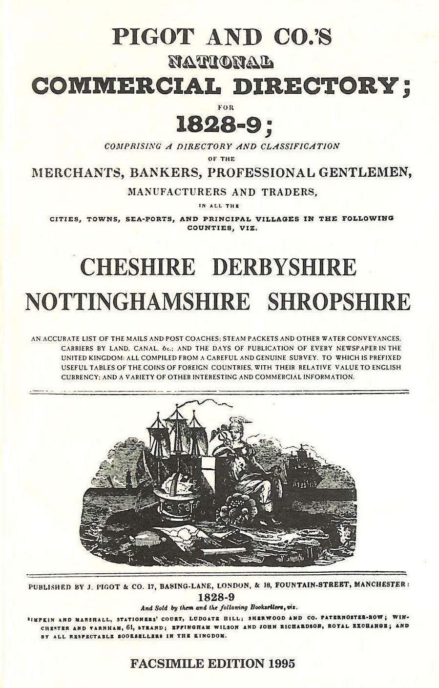 Image for National commercial directory for 1828-9: Cheshire, Derbyshire, Nottinghamshire, Shropshire