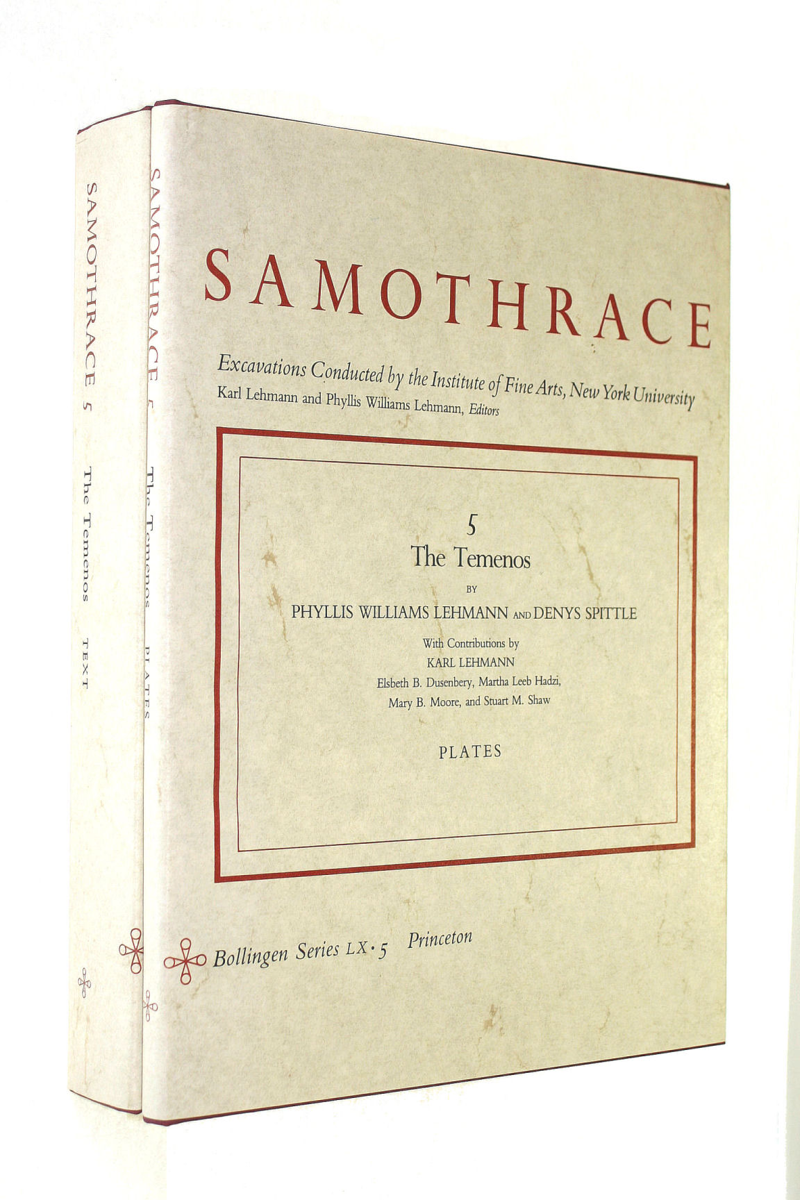 Image for Samothrace, Volume 5: The Temenos (Two Volumes, Plates and Text): The Temenos (Plates and Text) v. 5
