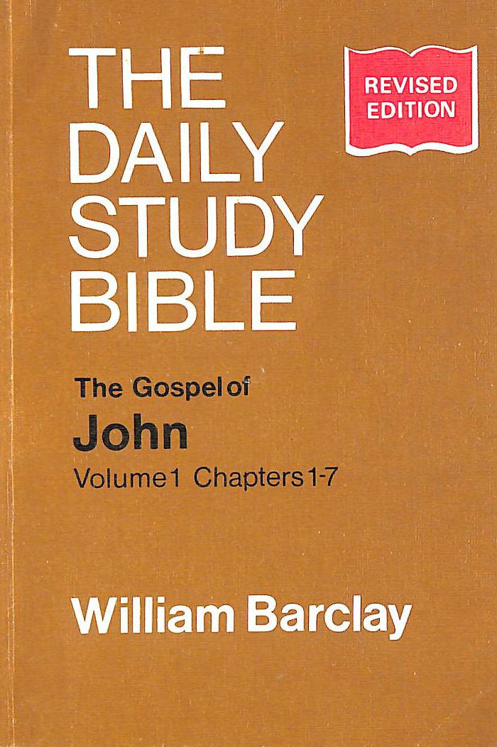 Image for Gospel of John: Chapters 1-7 v.1: Chapters 1-7 Vol 1 (Daily Study Bible)