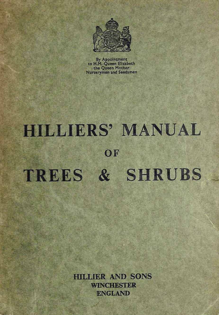 Image for Hilliers' Manual of Trees and Shrubs
