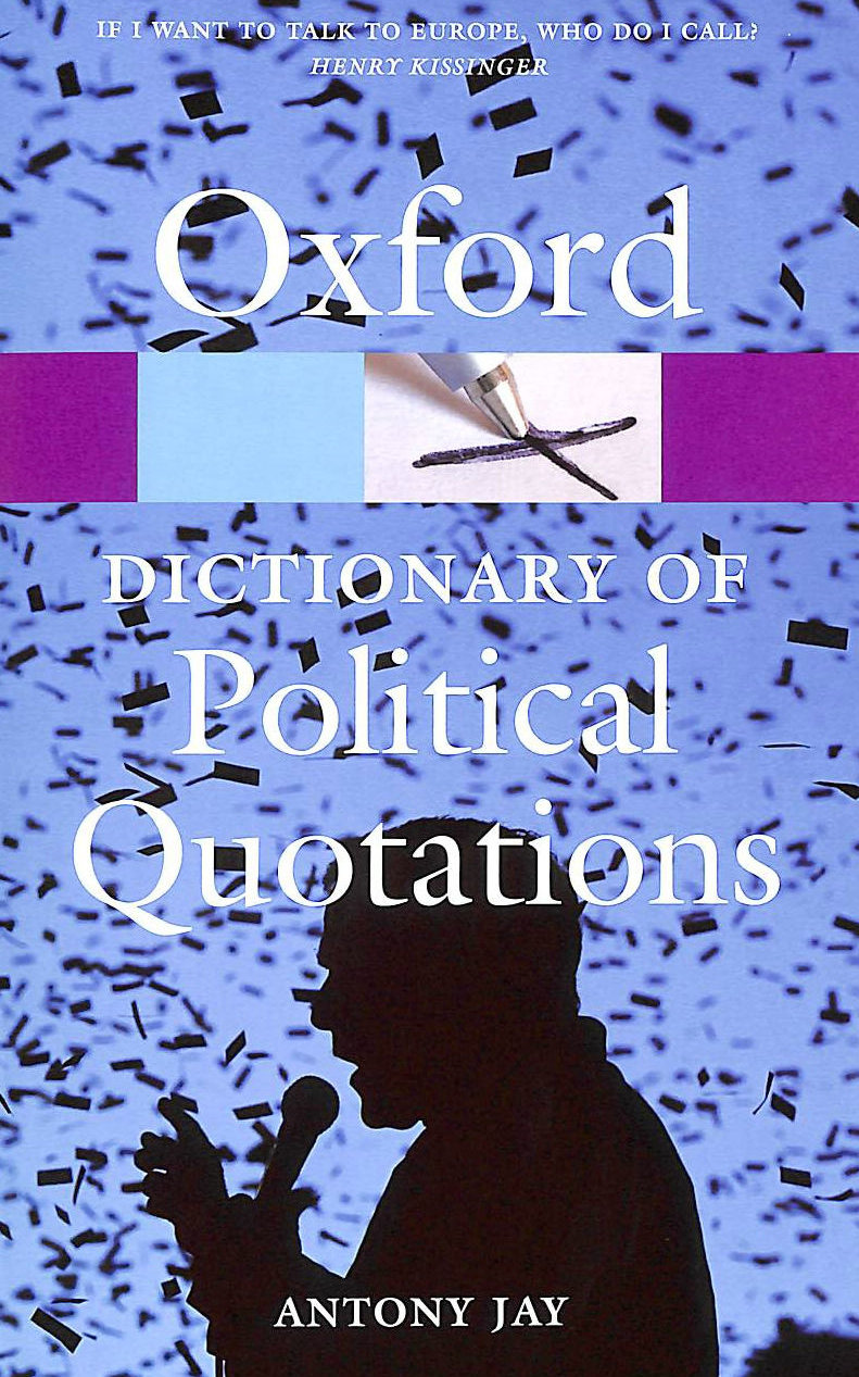 Image for Oxford Dictionary of Political Quotations (Oxford Paperback Reference)