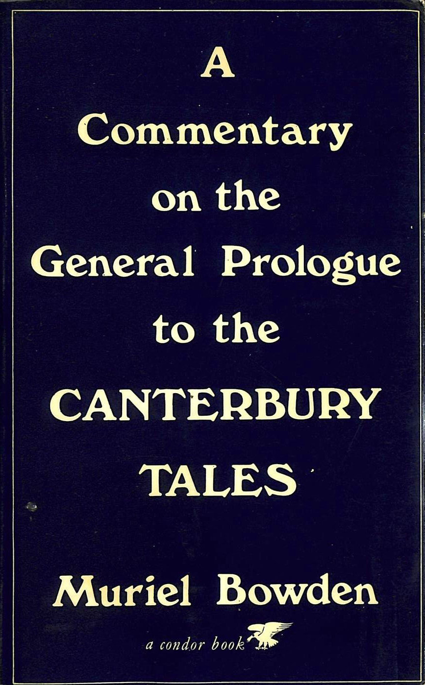 Image for Commentary on the Prologue to the Canterbury Tales