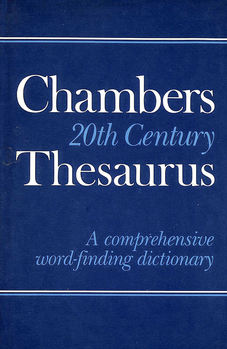Image for Chambers Twentieth Century Thesaurus: A Comprehensive Word-finding Dictionary