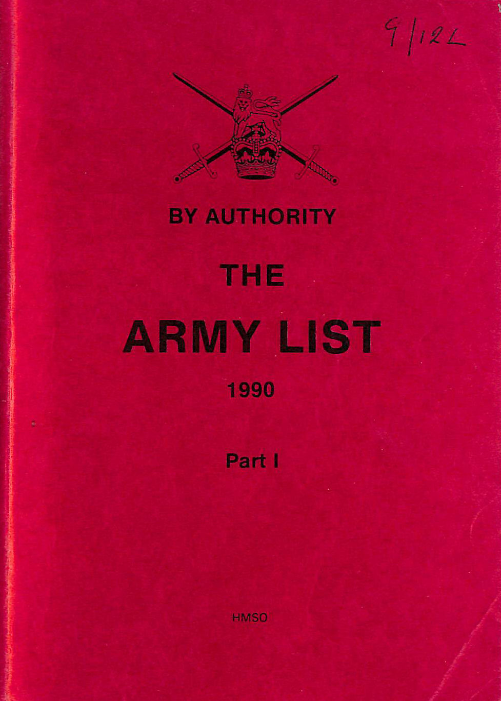 Image for The Army List 1990 Part I