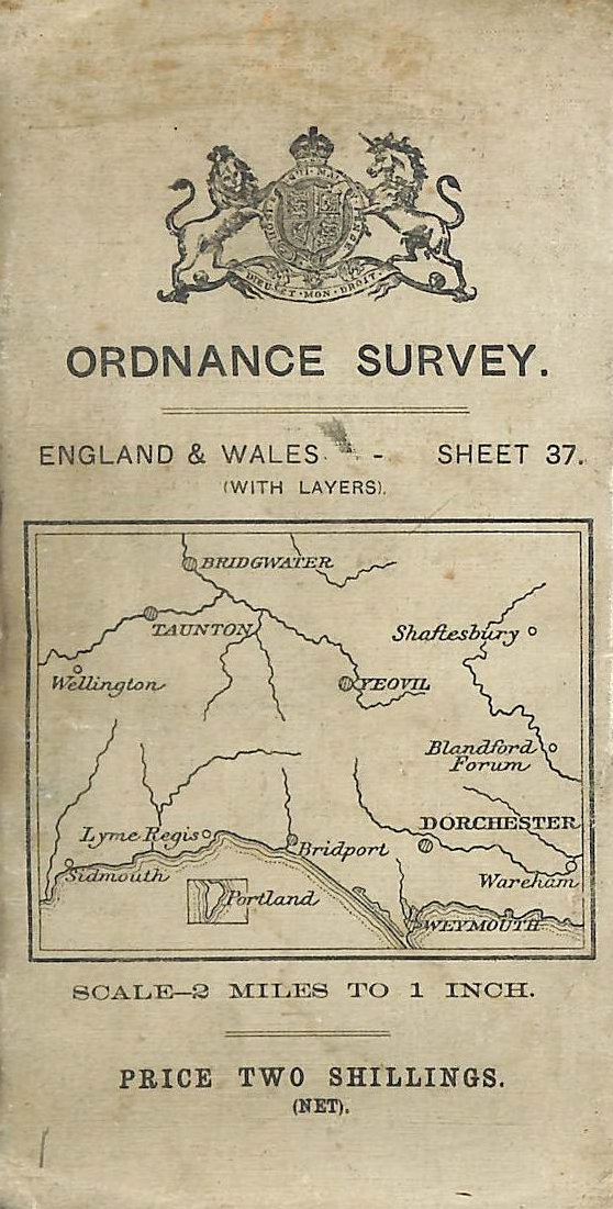 Image for Ordnance Survey Sheet 37 2 Miles to 1 inch