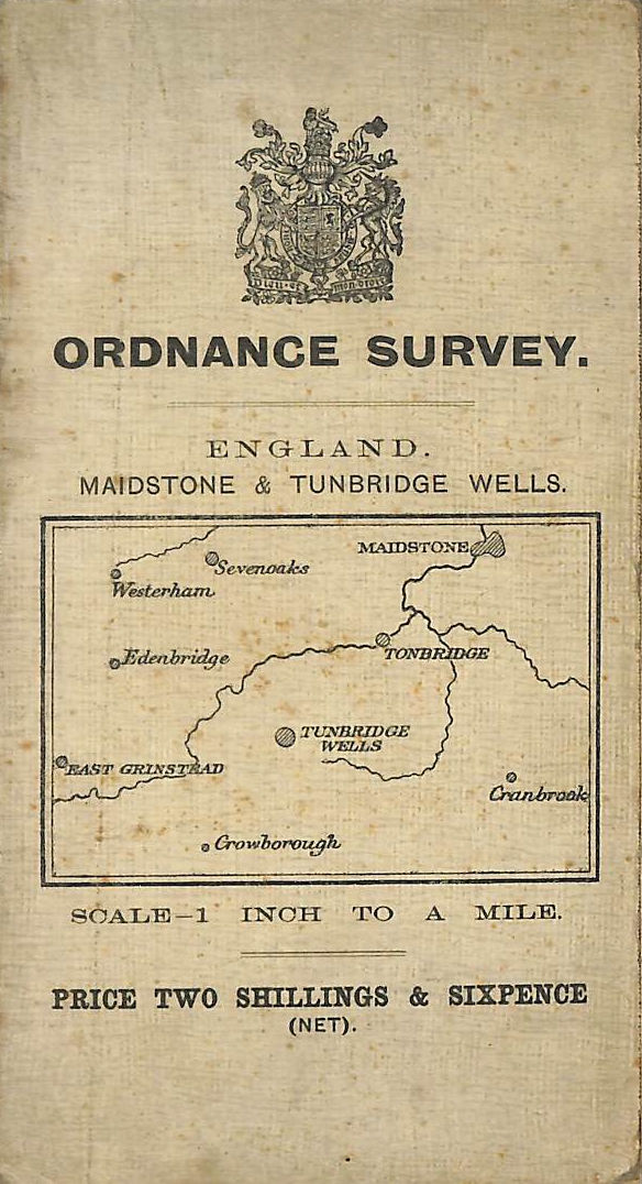 Image for Ordnance Survey England Maistone and Tunbridge 1 inch to a mile