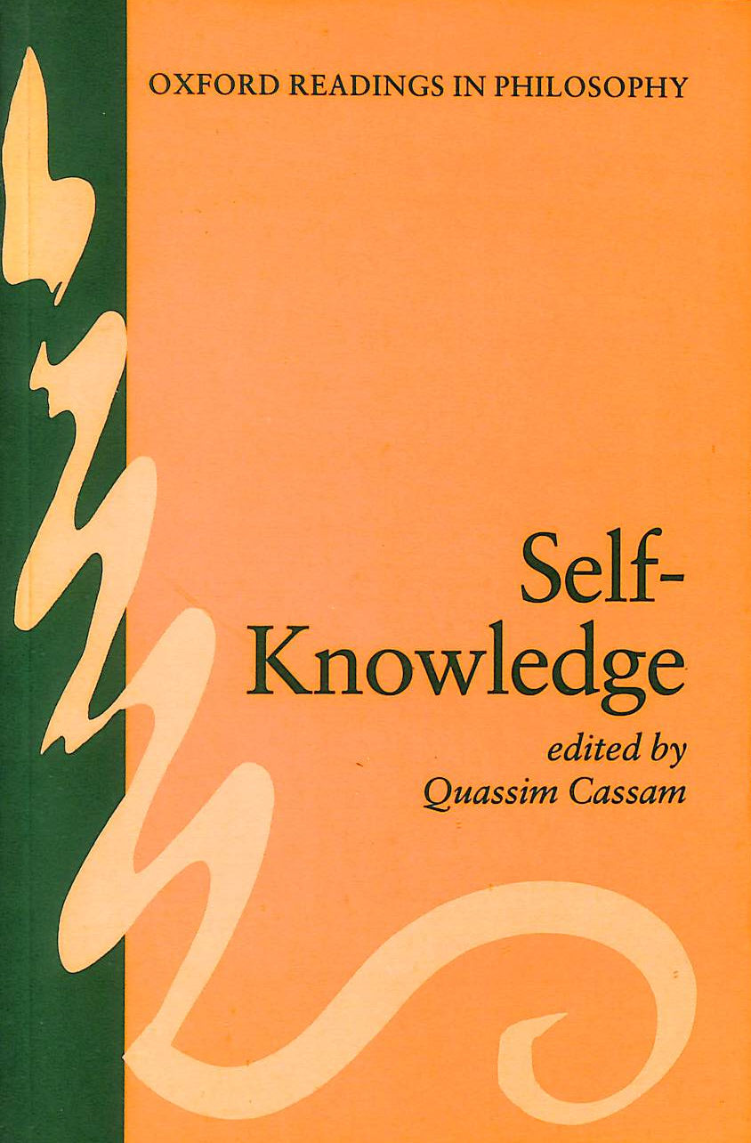 Image for Self-Knowledge (Oxford Readings In Philosophy)