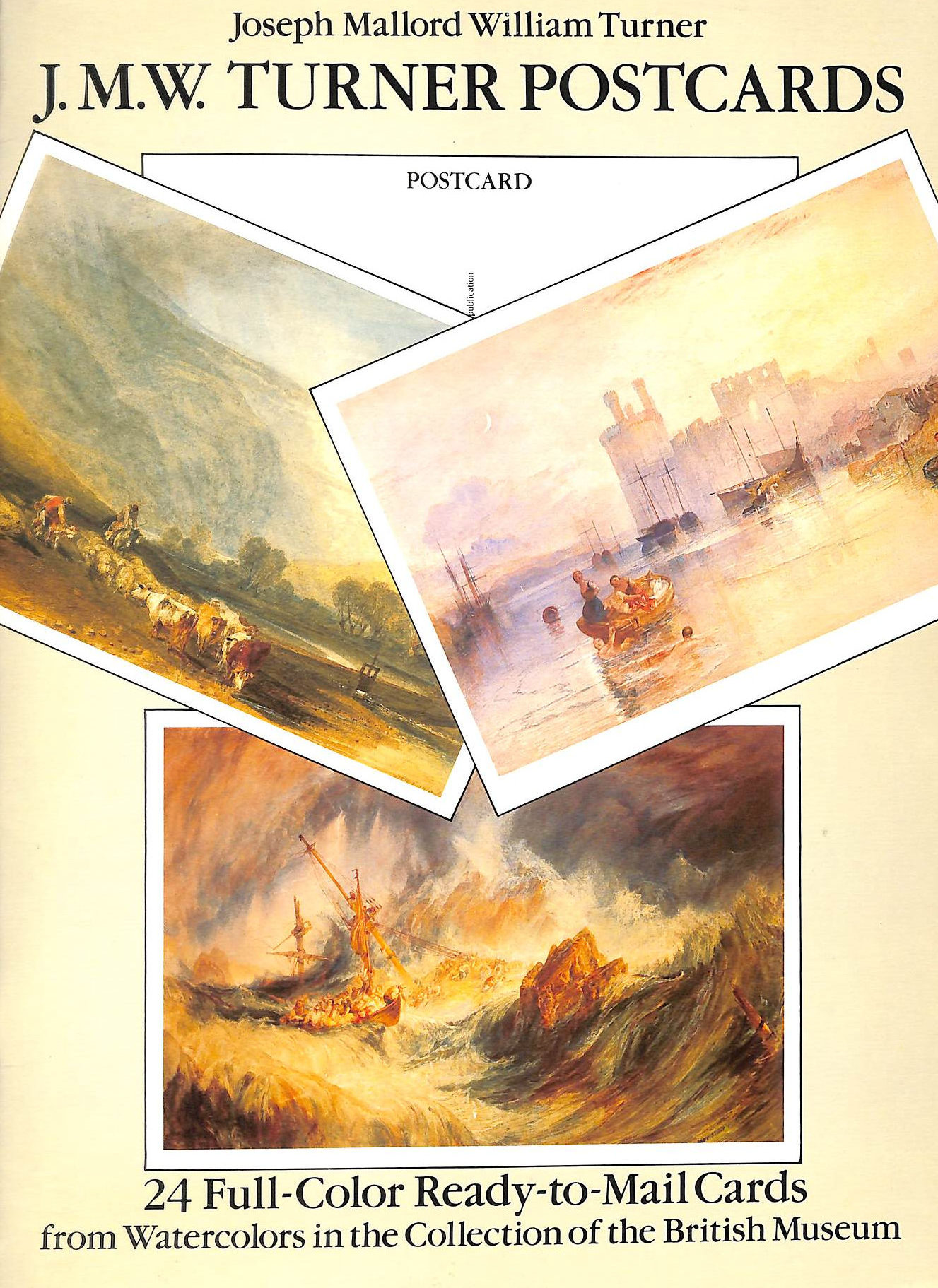 Image for J.M.W. Turner Postcards: 24 Full-Colour Ready-To-Mail Cards From Watercolours In The Collection Of The British Museum (Card Books)