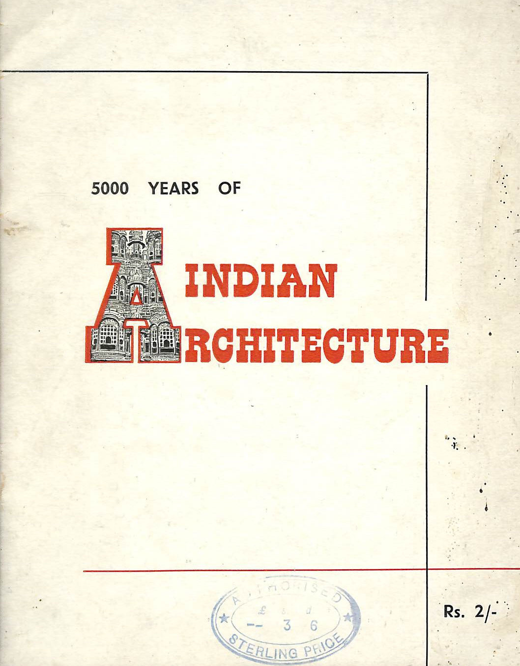Image for 5000 Years Of Indian Architecture