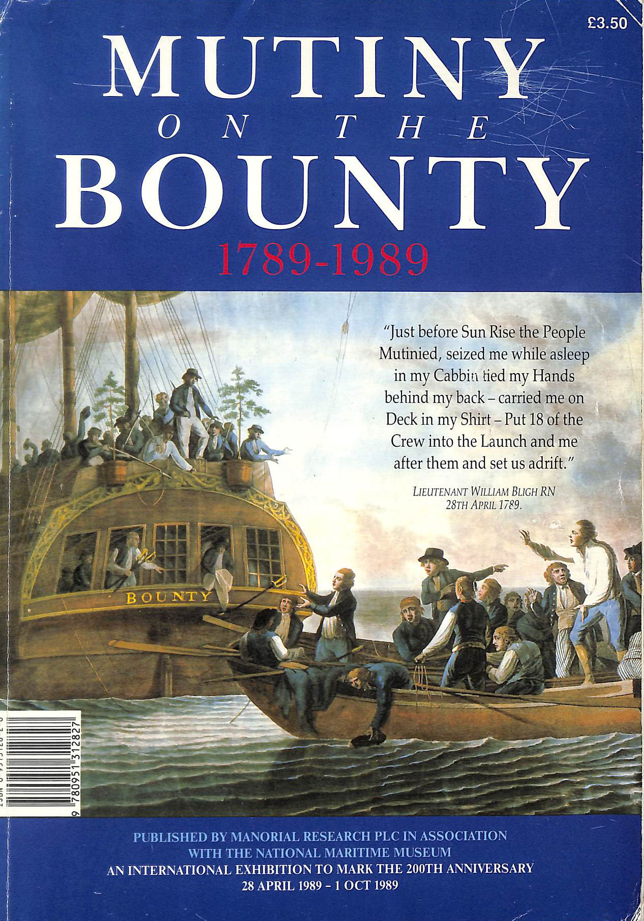 Image for Mutiny On The Bounty 1789-1989
