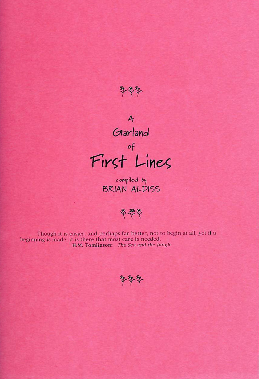 Image for A Garland of First Lines