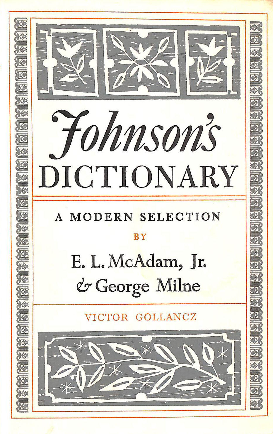 Image for Johnson's Dictionary, A Modern Selection
