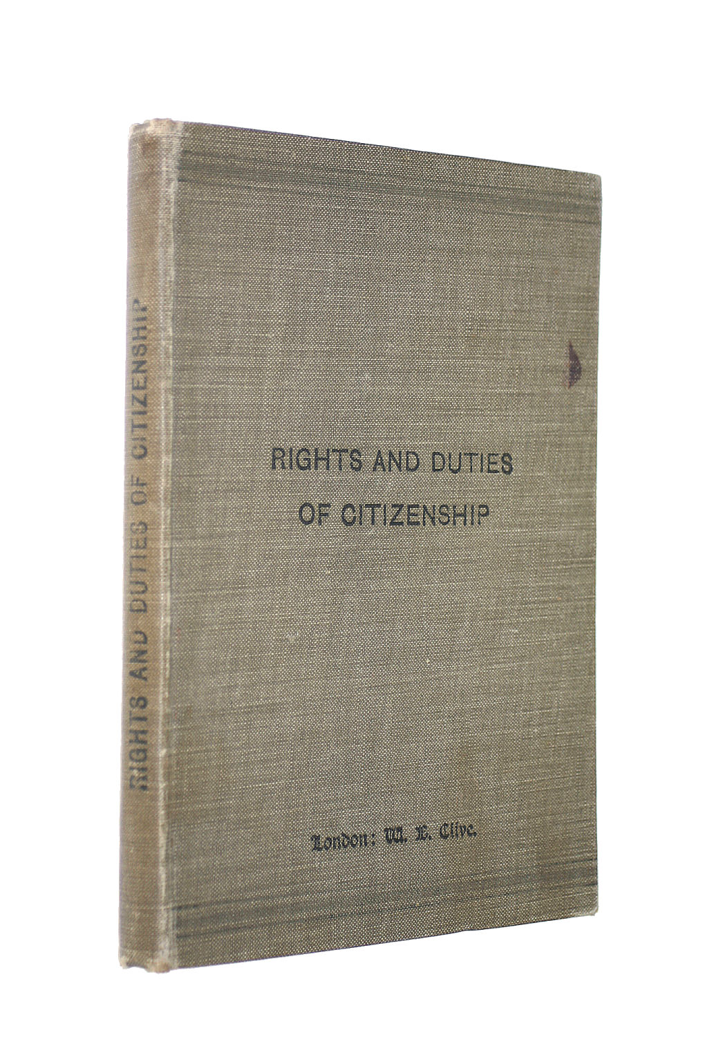 Image for The Elements Of The Duties And Rights Of Citizenship.