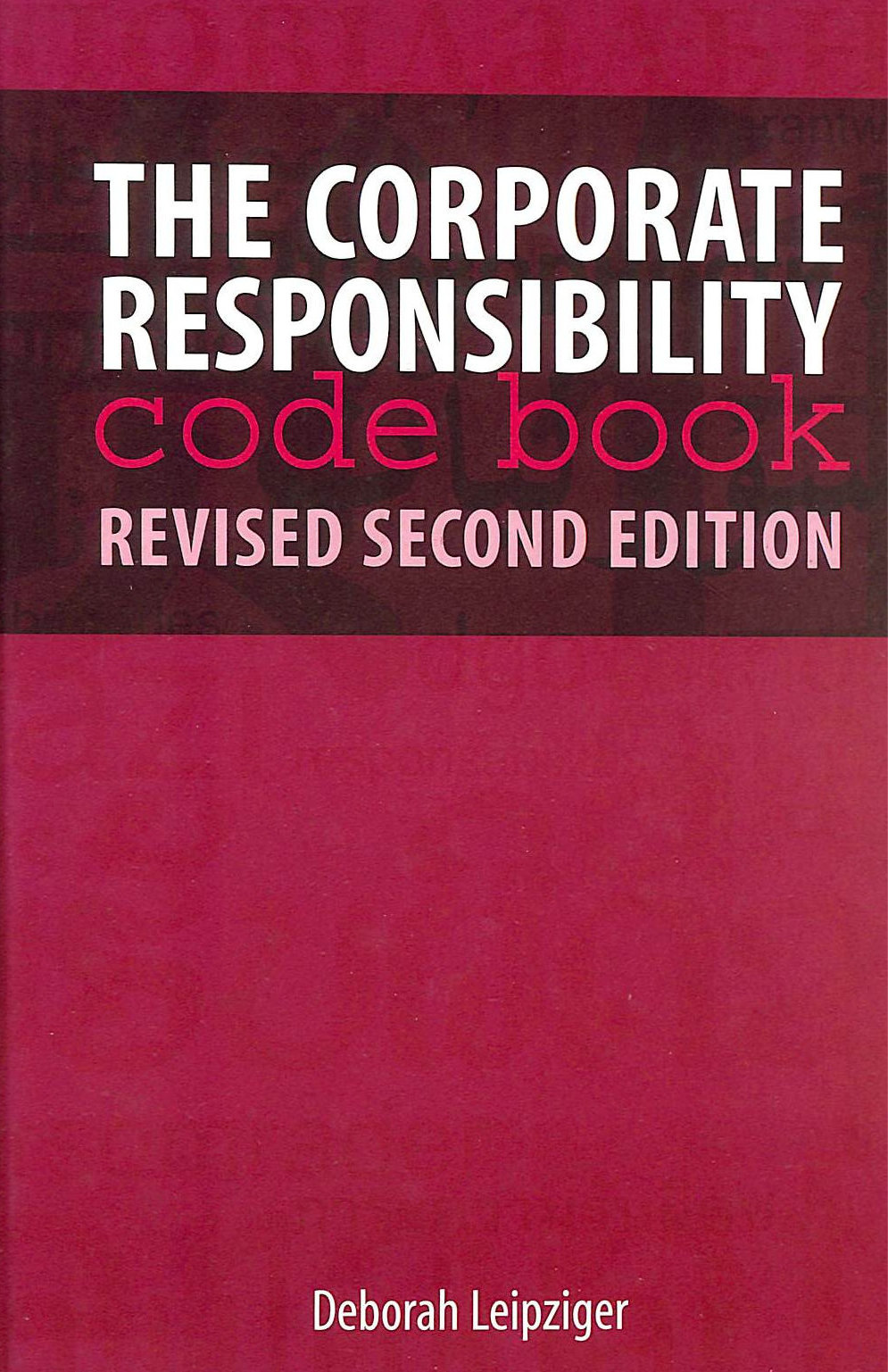 Image for The Corporate Responsibility Code Book