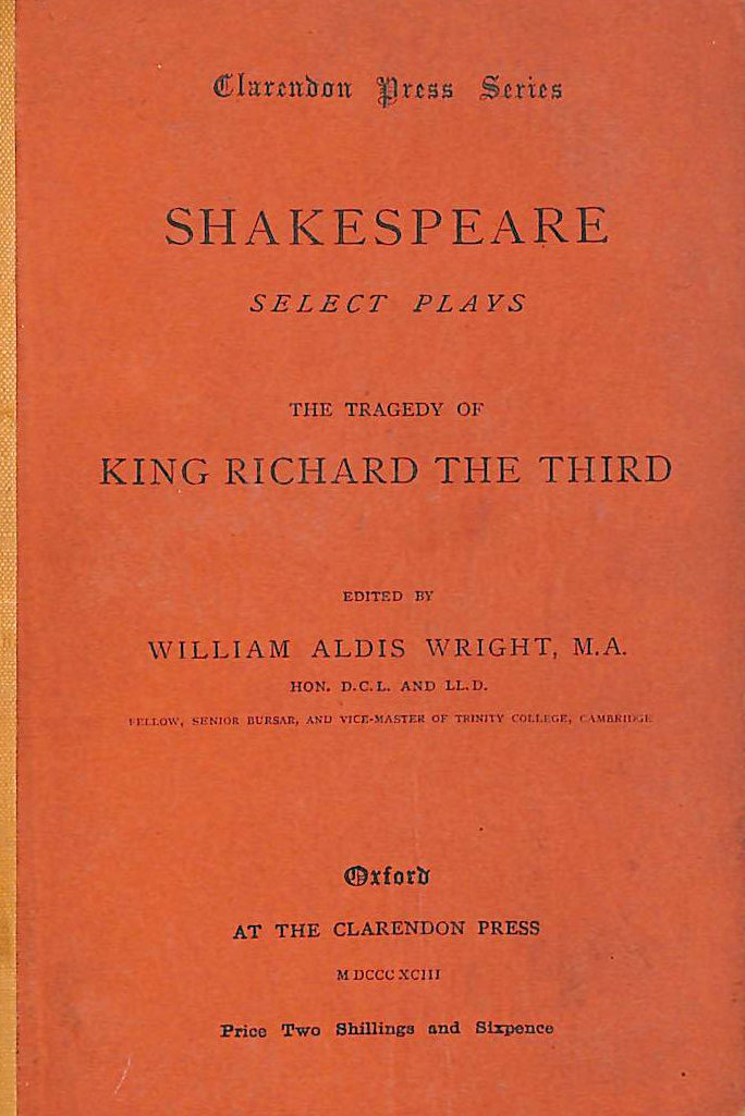 Image for Shakespeare Select Plays : The Tragedy Of King Richard The Third