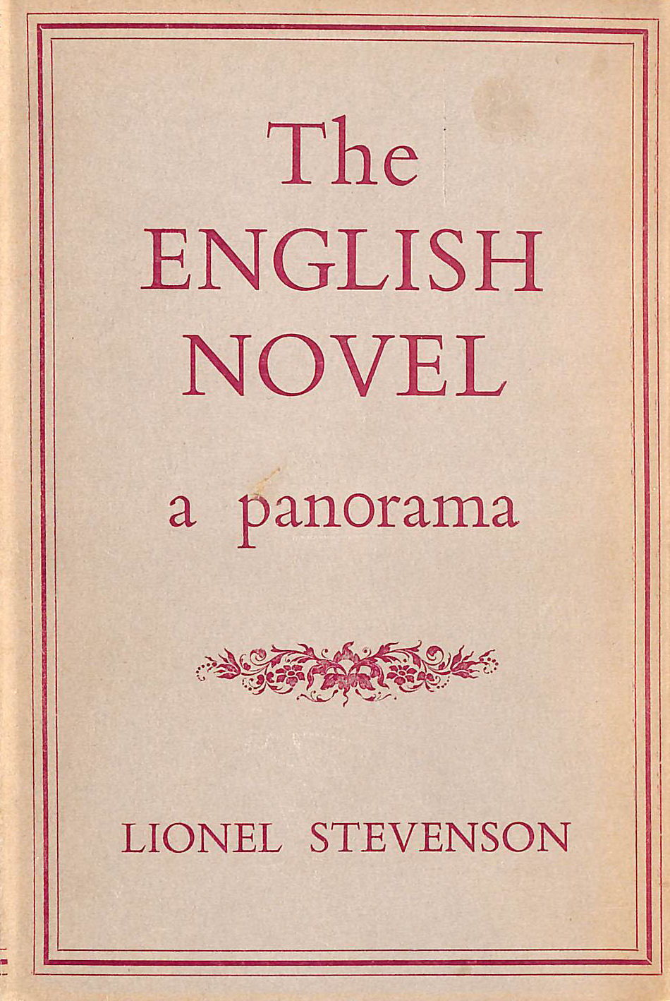Image for The English Novel. A Panorma