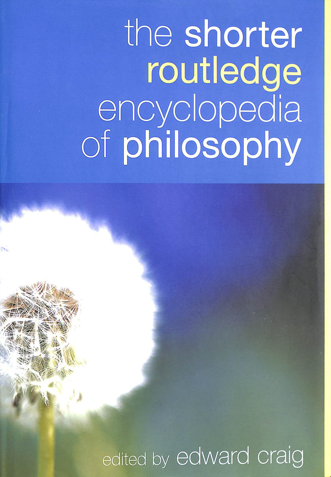 Image for The Shorter Routledge Encyclopedia Of Philosophy