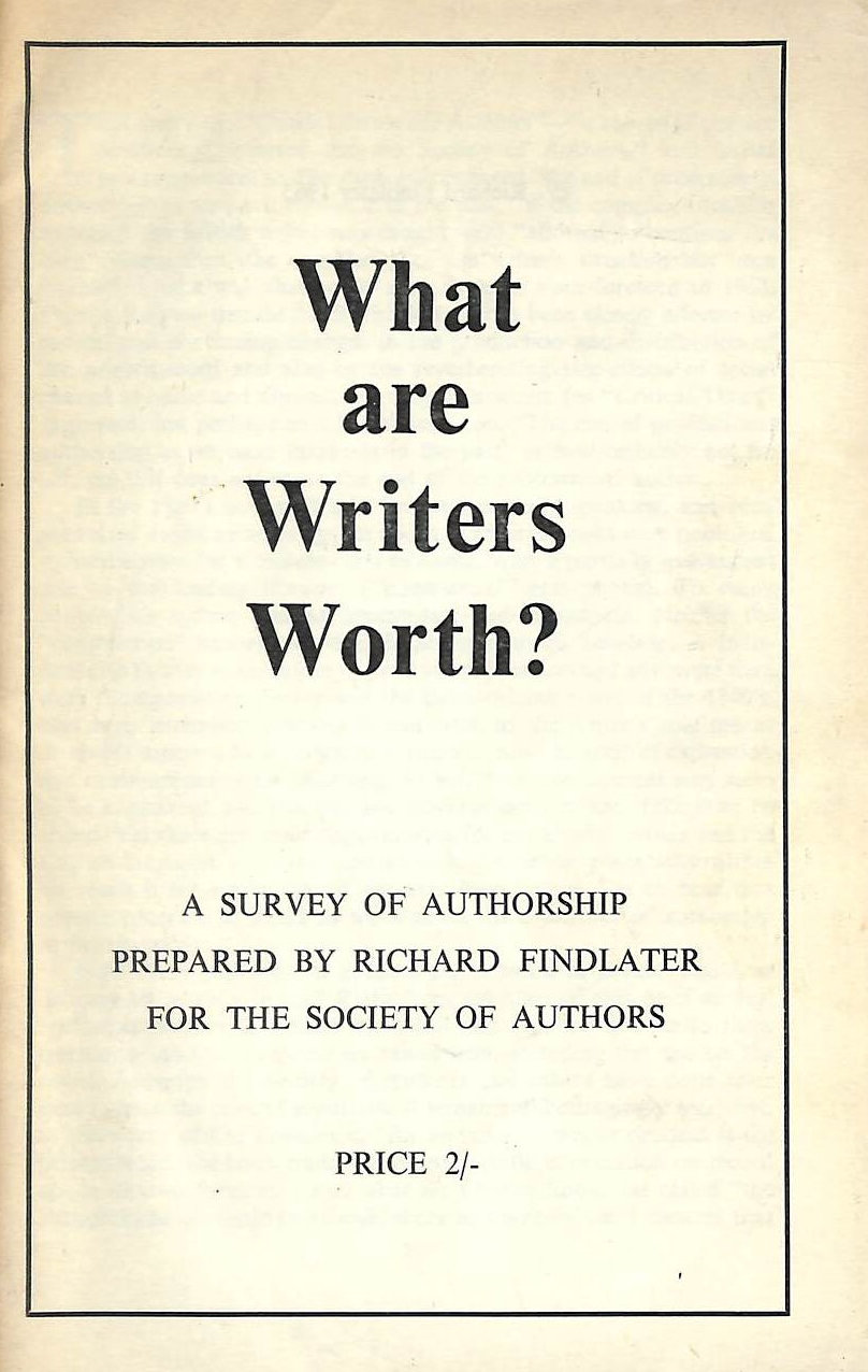 Image for What Are Writers Worth?