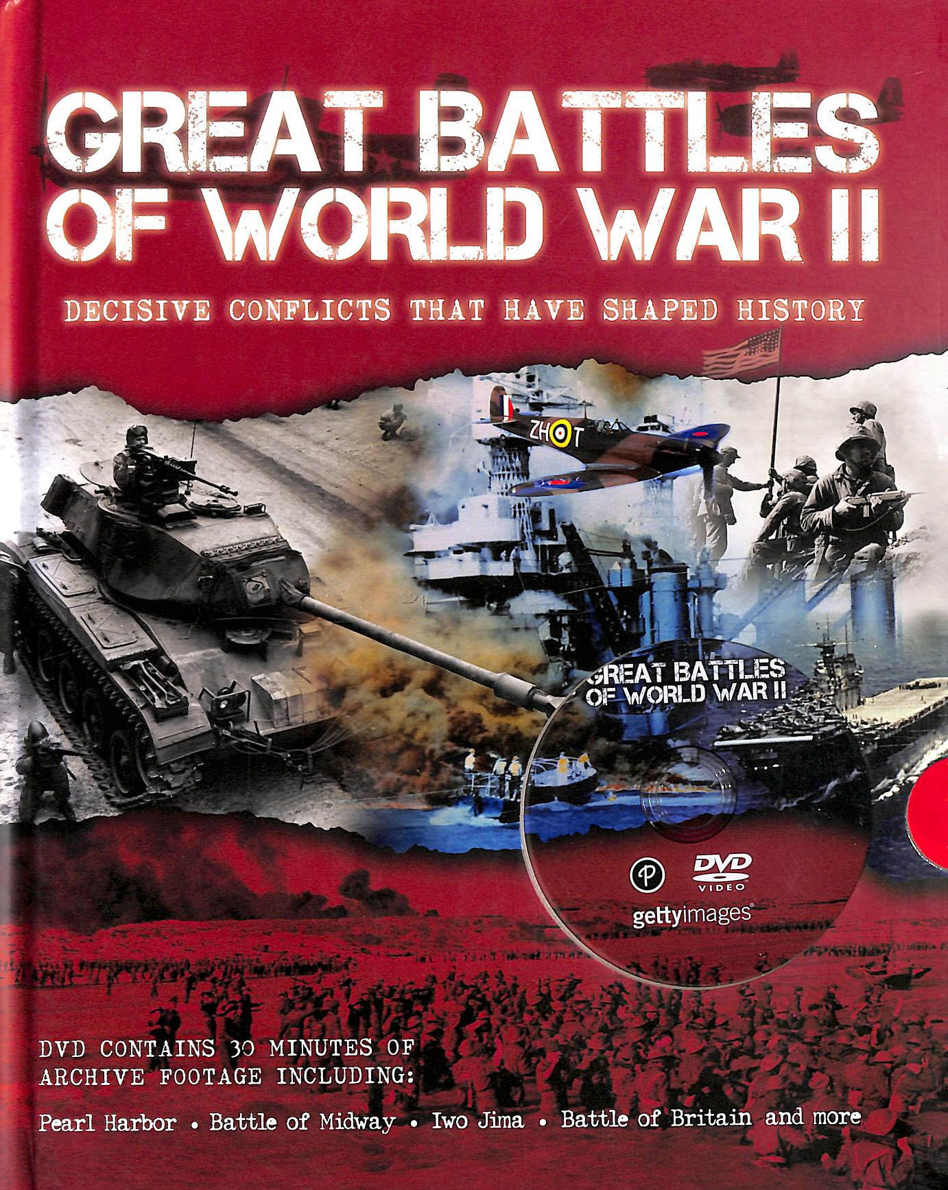 Image for Great Battles Of Wwii With Footage (Book & Dvd)