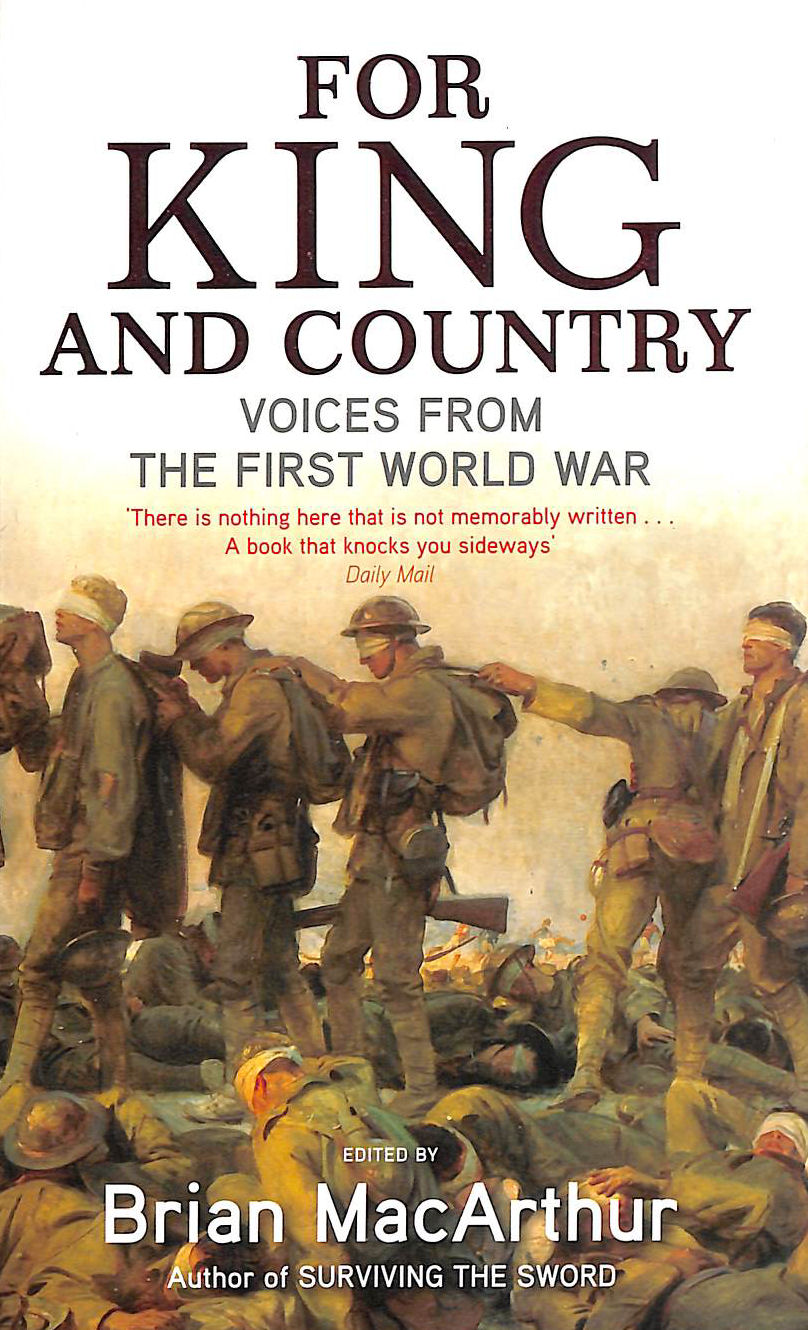 Image for For King And Country: Voices from the First World War