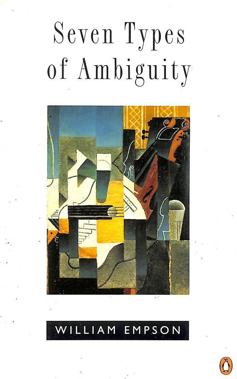 Image for Seven Types Of Ambiguity (Penguin Literary Criticism)