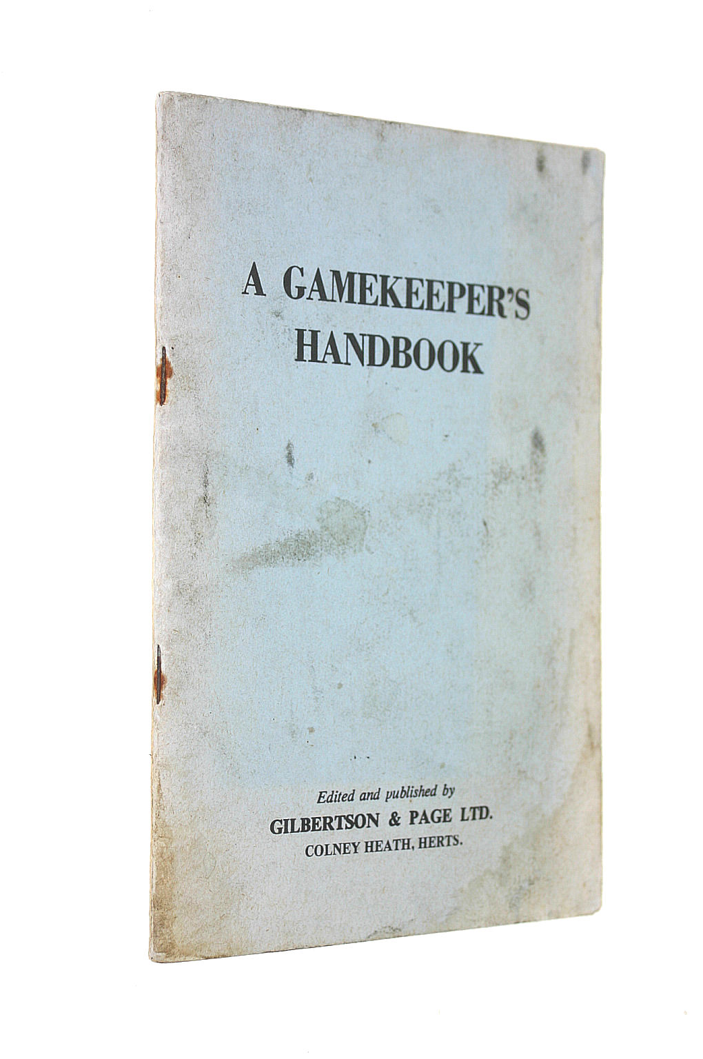 Image for Gamekeeper'S Handbook
