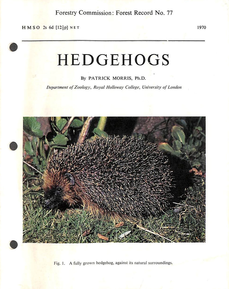 Image for Hedgehogs (Forest Record)