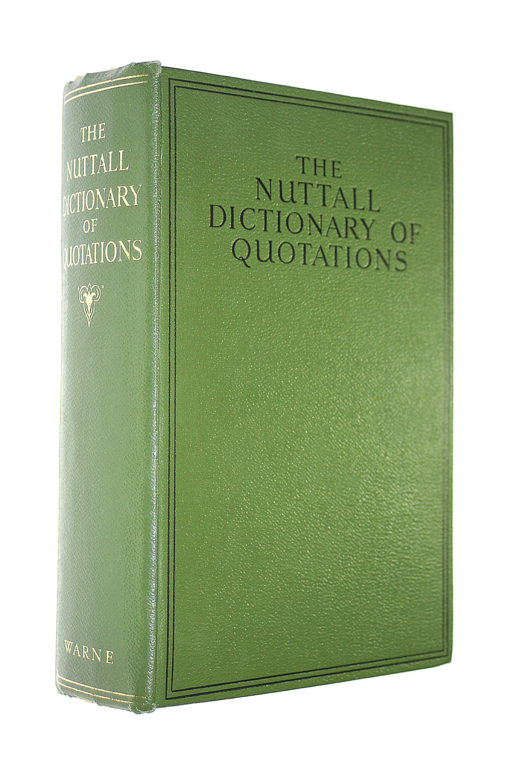 Image for The Nuttall Dictionary Of Quotations
