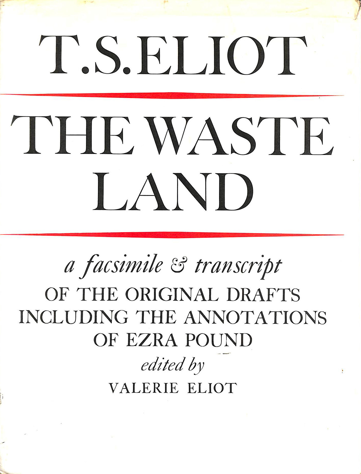 Image for The Waste Land: Facsimile And Transcript Of The Original Drafts