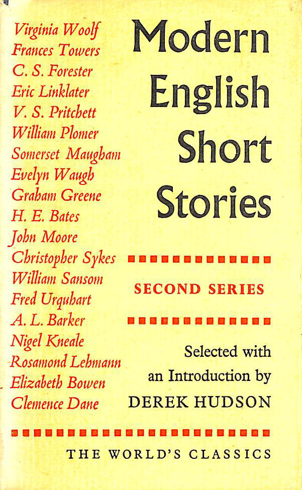 Image for Modern English Short Stories Second Series