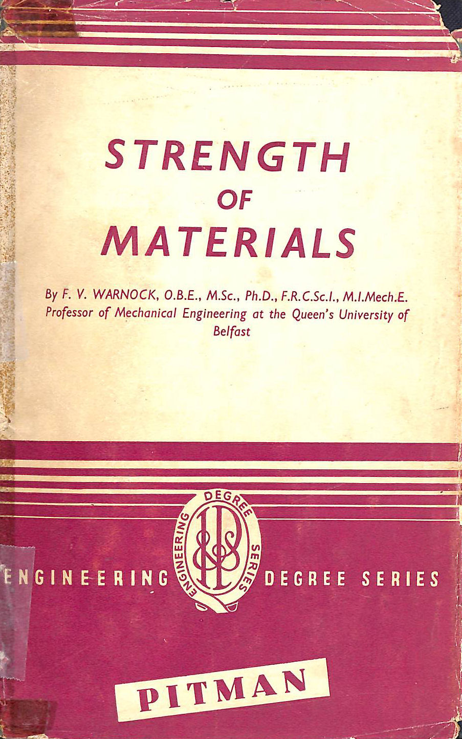 Image for Strength Of Materials (Engineering Degree Series)