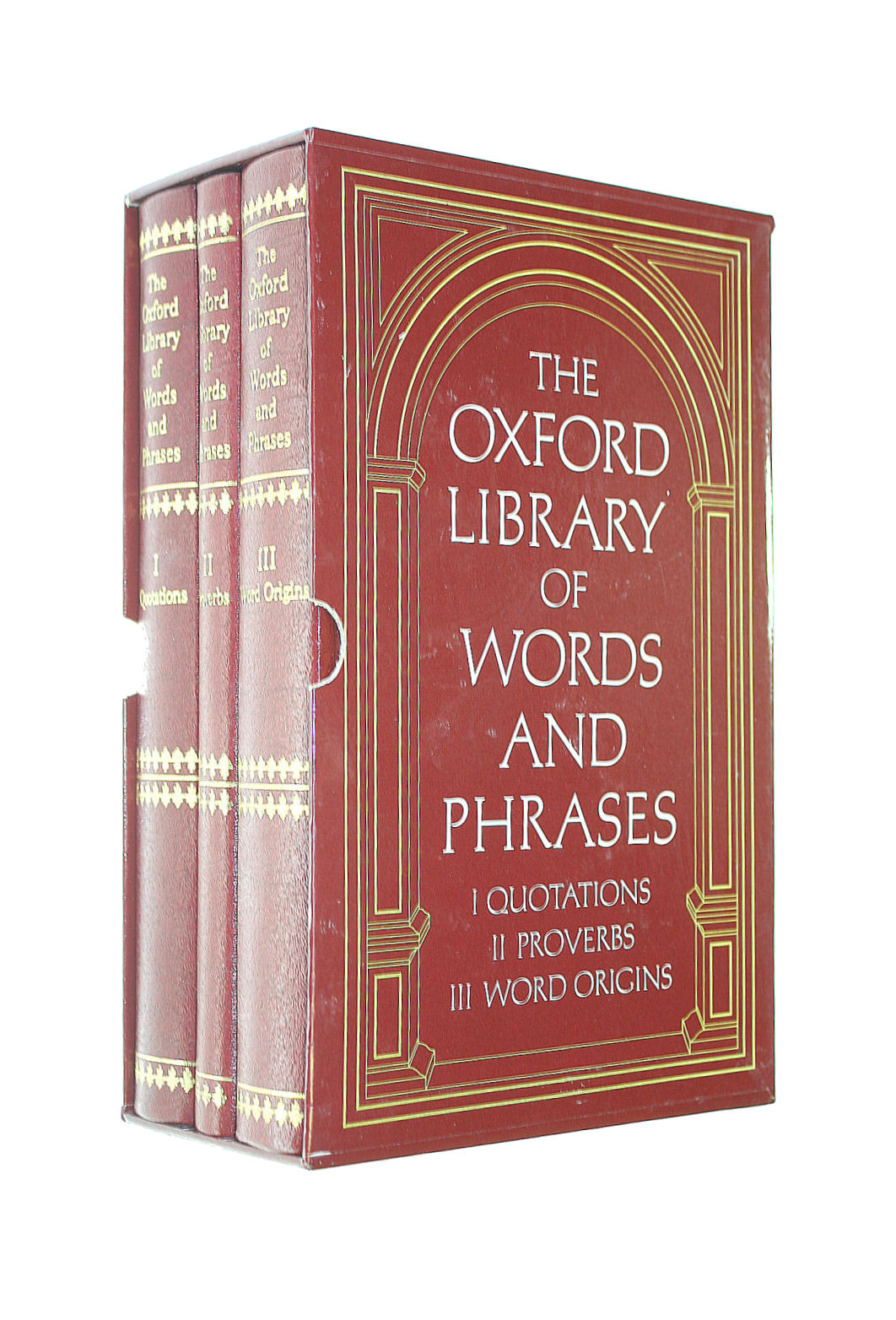 Image for The Oxford Library Of Words And Phrases . I Quotations Ii Proverbs Iii Word Origins