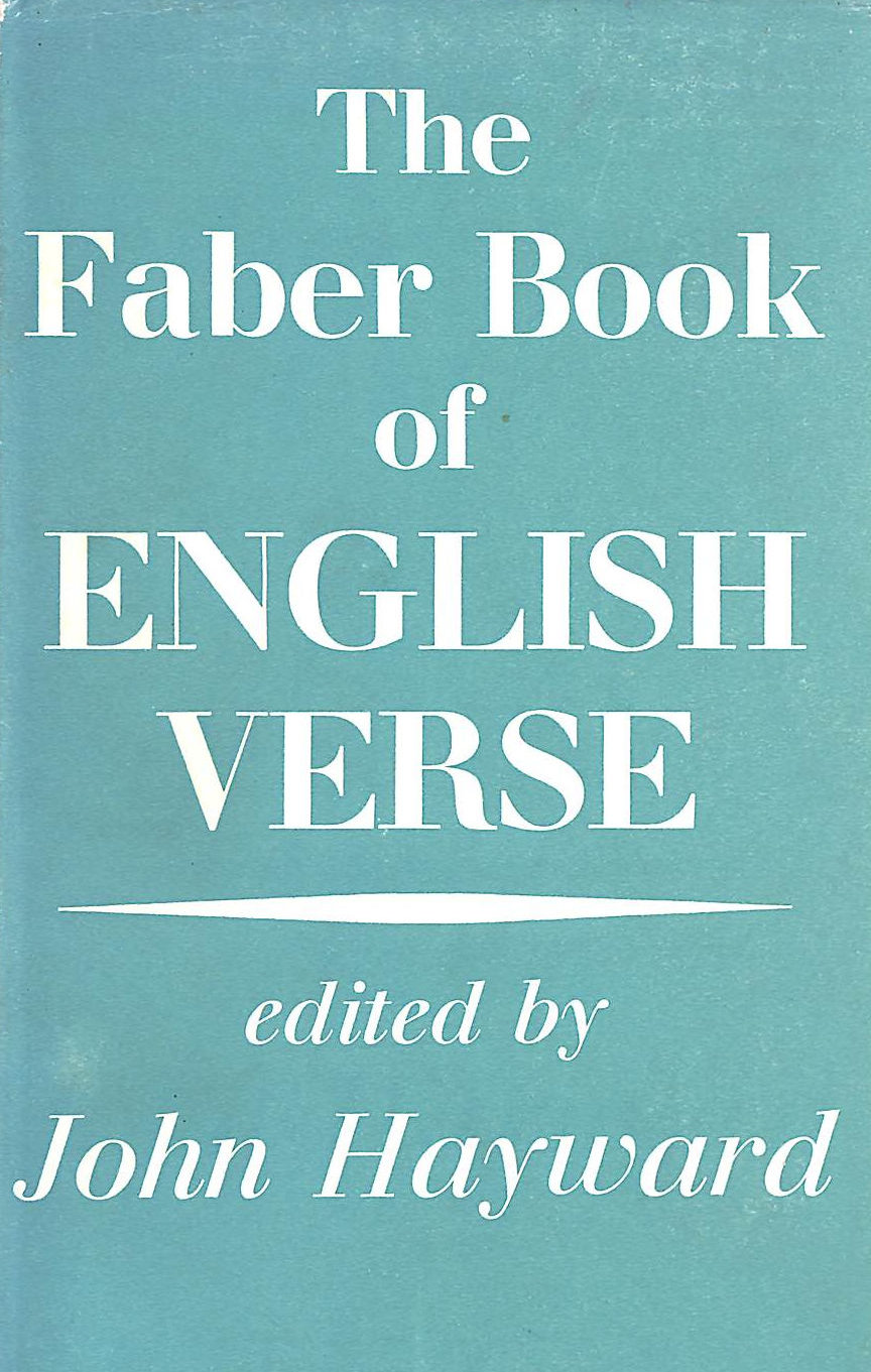 Image for The Faber Book Of English Verse