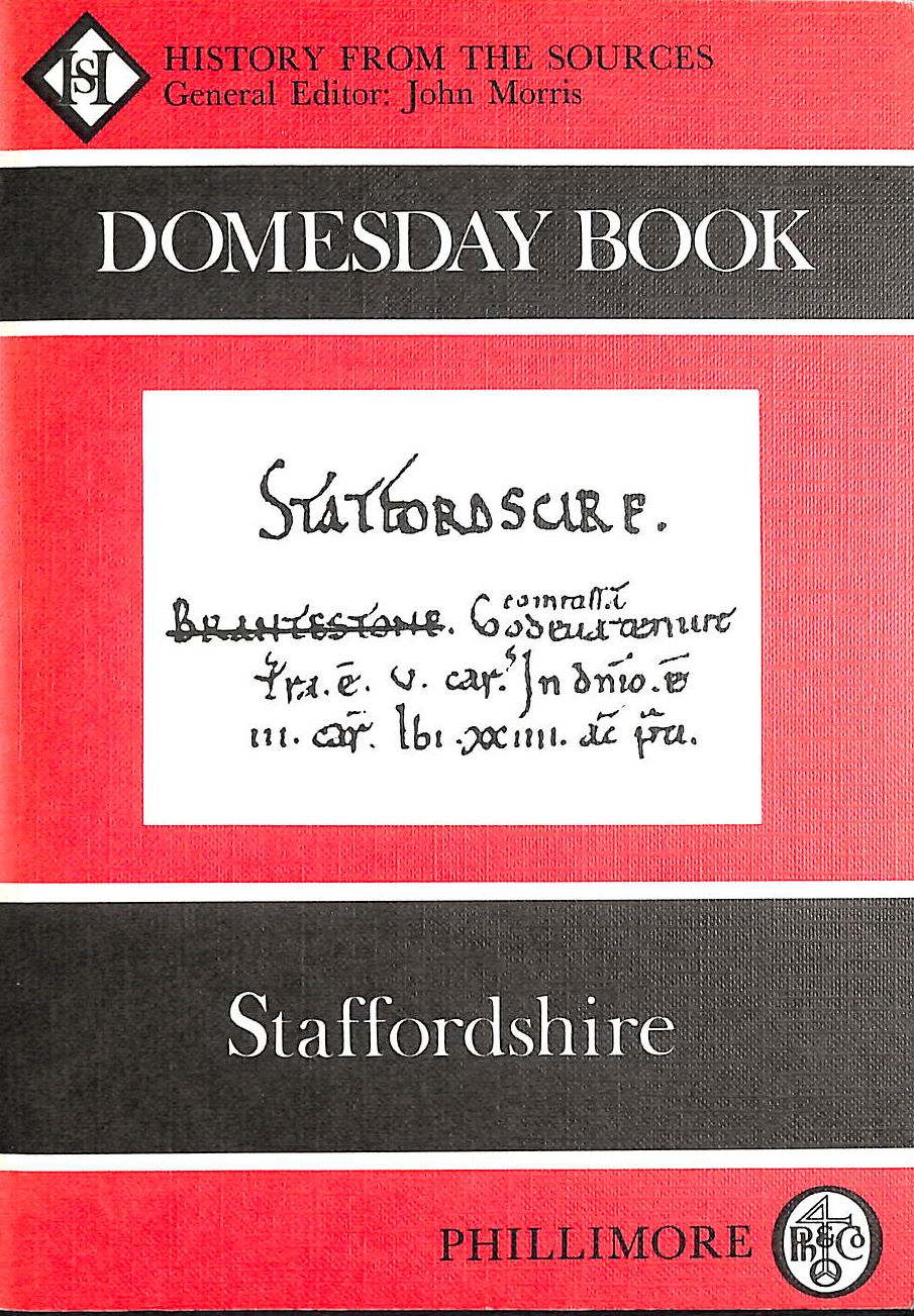 Image for The Domesday Book: Staffordshire (Domesday Books (Phillimore))