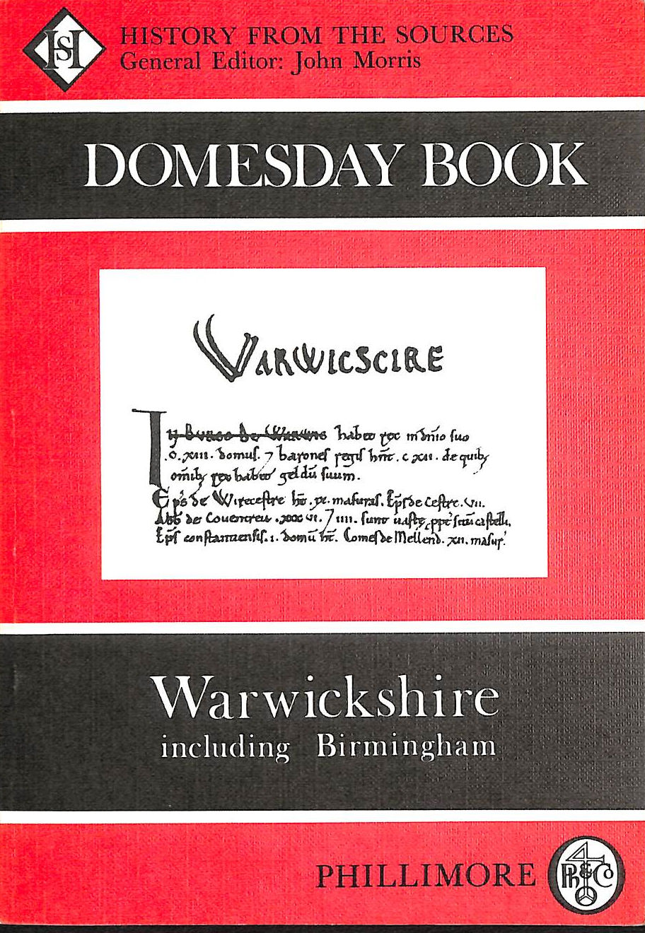 Image for The Domesday Book: Warwickshire (Domesday Books (Phillimore))