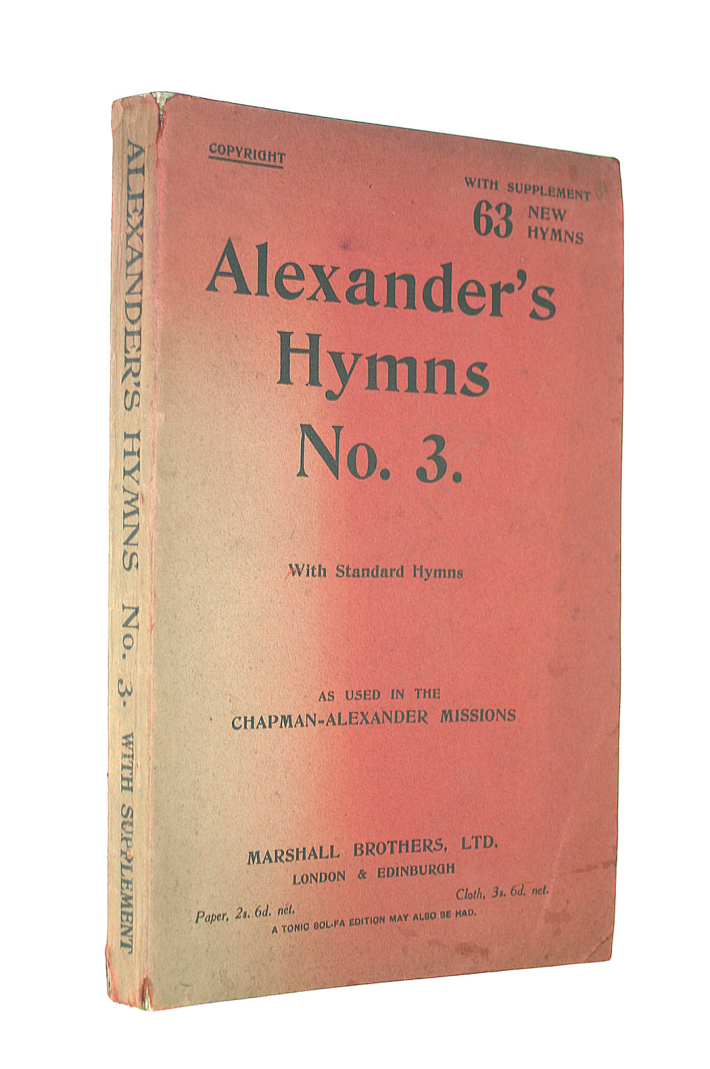 Image for With Supplement 63 New Hymns: Alexander's Hymns No.3 With Standard Hymns As Usen In The Capman Alexander Missions