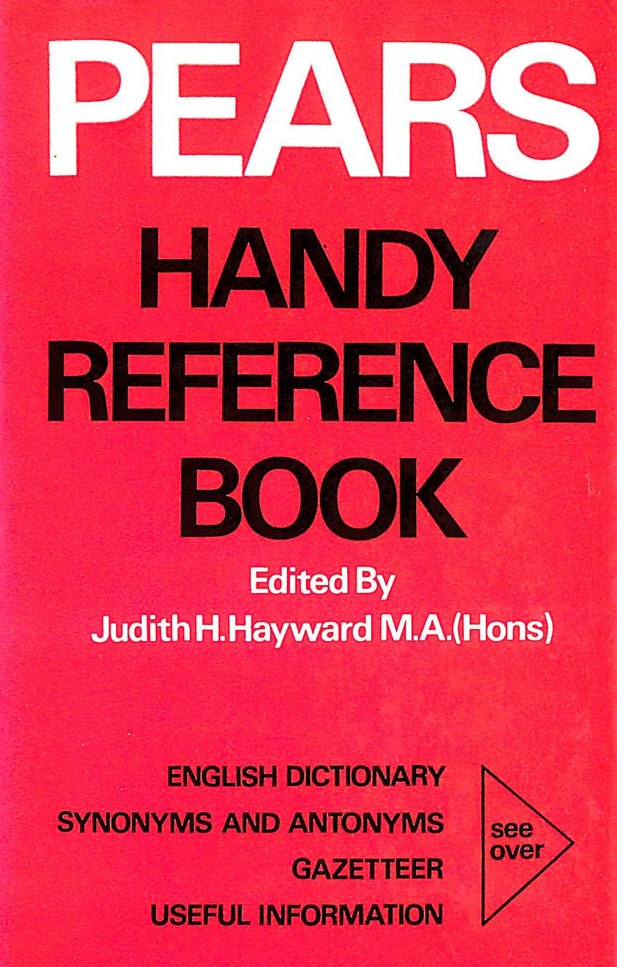 Image for Pears Handy Reference Book