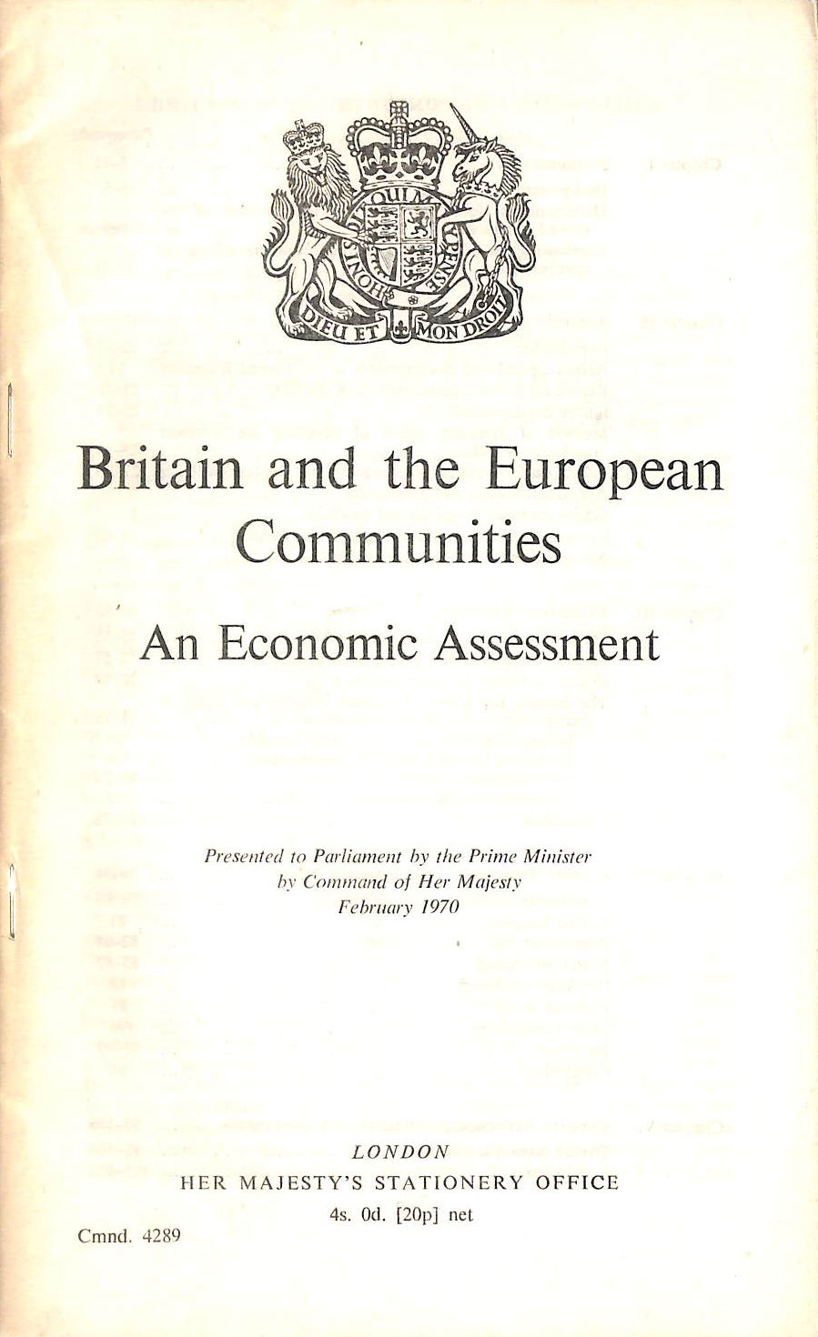 Image for Britain And The European Communities: An Economic Assessment