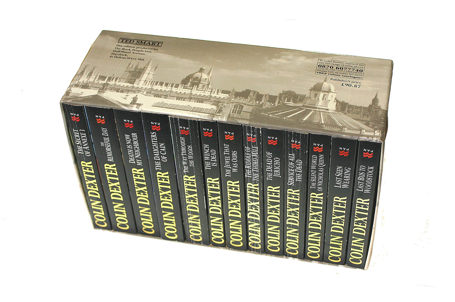 Image for Inspector Morse: The Complete Collection : 13 Pan Paperbacks In Slipcase. Remorseful Day, Dead Of Jericho, Death Now My Neighbour, Last Seen Wearing, Last Bus Woodstock, Way Through Woods, Daughters Of Cain, Wench Is Dead, Jewel That Was Ours, Etc.