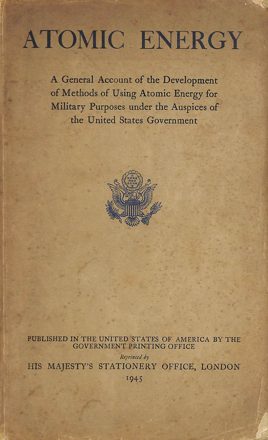 Image for Atomic Energy.