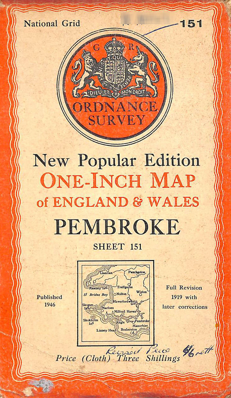 Image for Ordnance Survey New Popular Edition One-Inch Map Of England & Wales Pembroke Sheet 151
