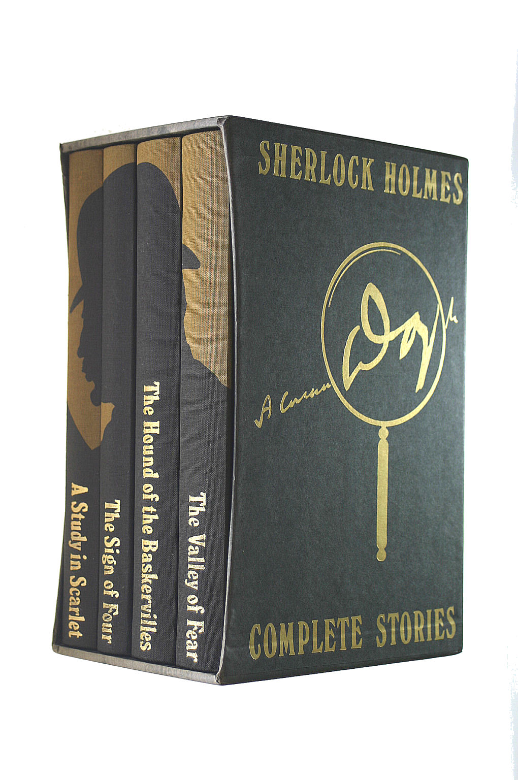 Image for Sherlock Holmes. Complete Stories. Four Volume Set In Slipcase....A Study In Scarlet/The Sign Of Four/The Hound Of The Baskervilles & The Valley Of Fear. Illustrated By Francis Mosley.