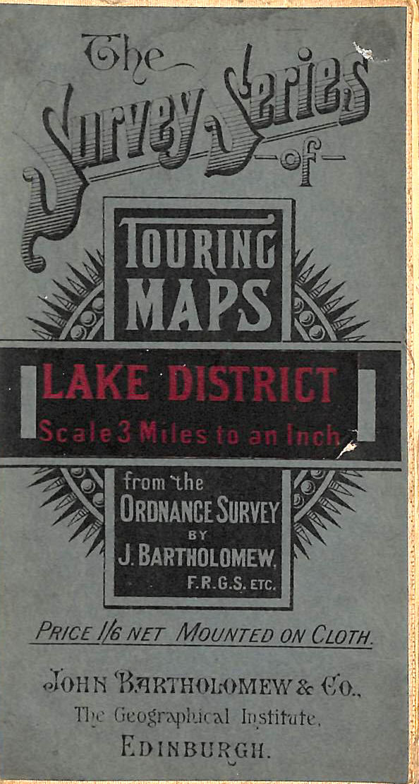 Image for The Survey Series Touring Maps: Reduced Survey Map Lake District (About 1921) Bartholomew