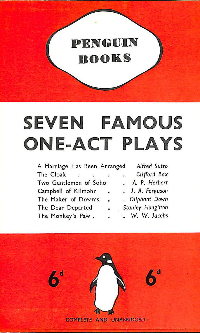 Image for Seven Famous One-Act Plays