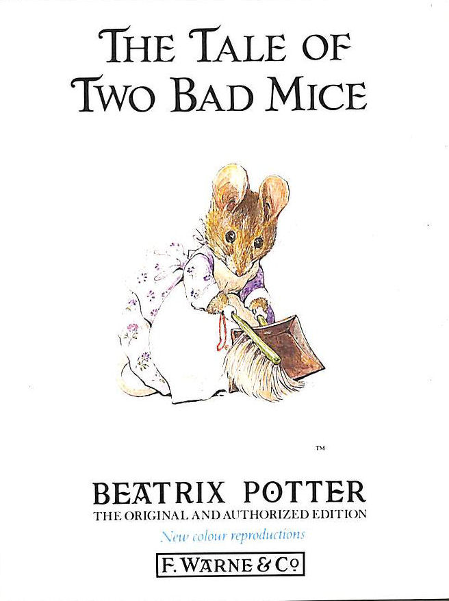 Image for The Tale Of Two Bad Mice (Beatrix Potter Originals)