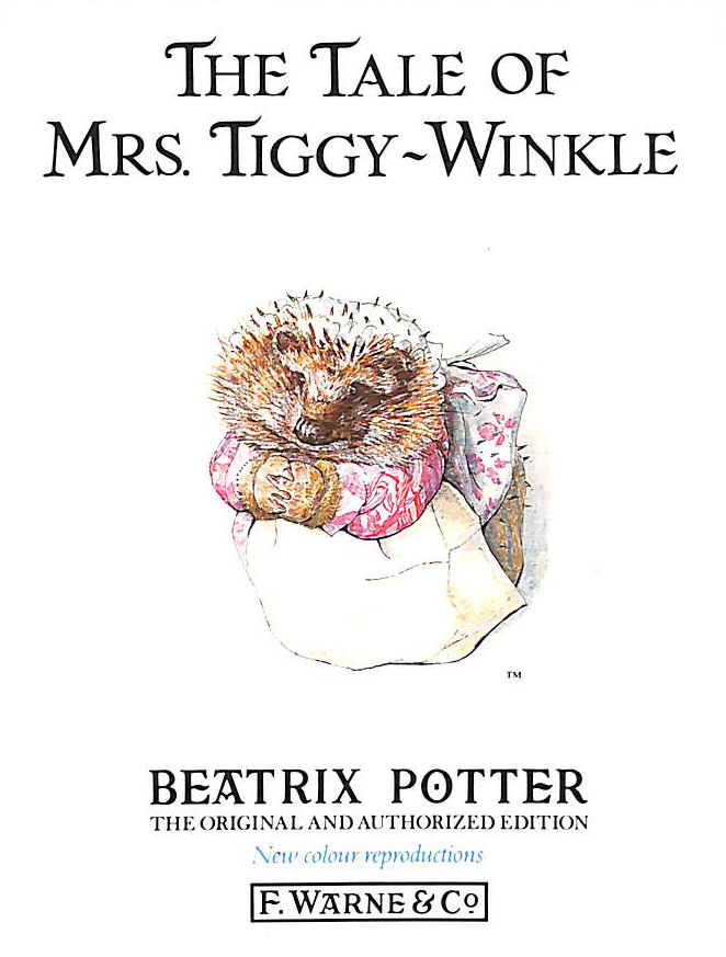 Image for The Tale Of Mrs. Tiggy-Winkle (Beatrix Potter Originals)
