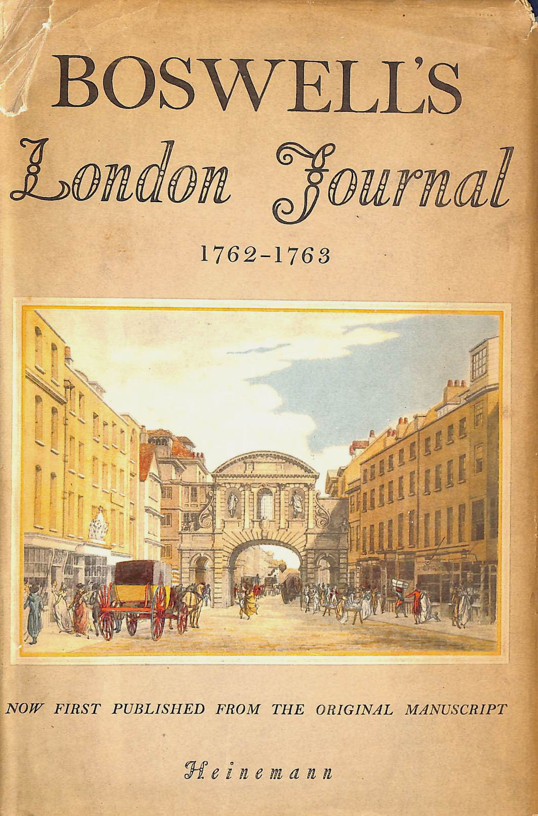 Image for Boswell'S London Journal 1762 - 1763